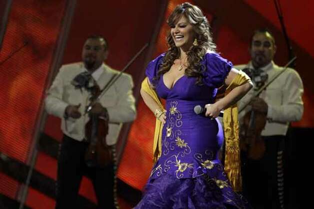 "Jenni Rivera performs ""Ya Lo Se"" onstage at the 11th Annual Latin Grammy Awards on Thursday, Nov. 11, 2010, in Las Vegas."