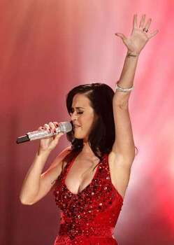 Katy Perry performs at the 38th Annual American Music Awards on Sunday, Nov. 21, 2010 in Los Angeles.