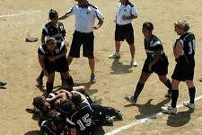 Northside Suburban Little League All-Stars celebrate Saturday in Lower Sussex, Del., after winning the 2010 Senior League Softball World Series with a 3-1 victory over Haverstraw, N.Y.
