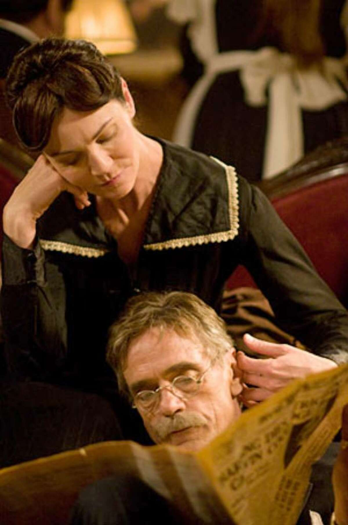 """""""Georgia O'Keeffe"""" starring Joan Allen and Jeremy Irons. It premieres at 8 p.m. on Saturday."""