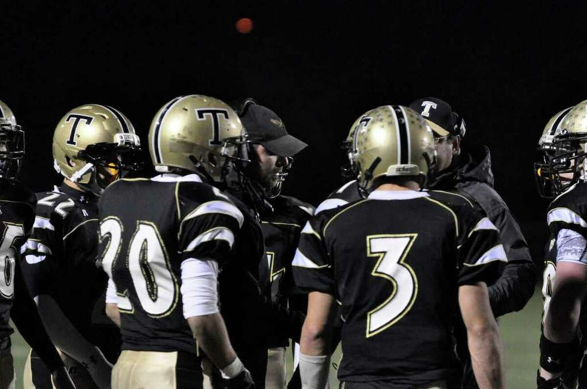 Trumbull versus Conard during the CIAC quarterfinal football game at Trumbull on Tuesday, Nov. 30, 2010.
