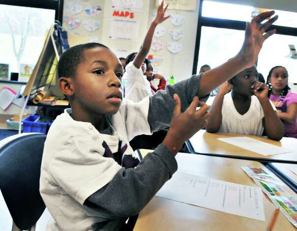 Arbor Hill Elementary School fourth grader Ke-Shawn Miller during class.  (John Carl D'Annibale / Times Union) Photo: John Carl D'Annibale /  00011114A