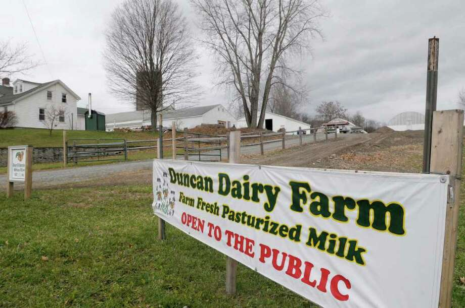 A view of Duncan's Dairy Farm  in Brunswick.  Robert Duncan started up his dairy operation in July, decades after his father quit the business in 1972.    (Paul Buckowski / Times Union Photo: Paul Buckowski / 00011250A