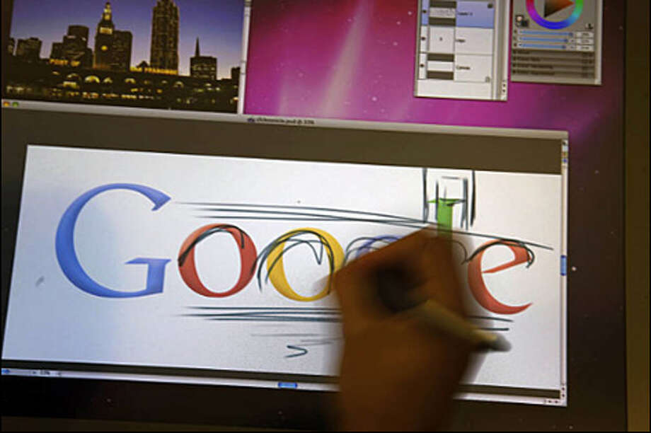 Google Chief Doodler Michael Lopez demonstrates the process of creating a doodle at Google's headquarters in Mountain View, Calif. | View photo gallery Photo: Lea Suzuki/San Francisco Chronicle