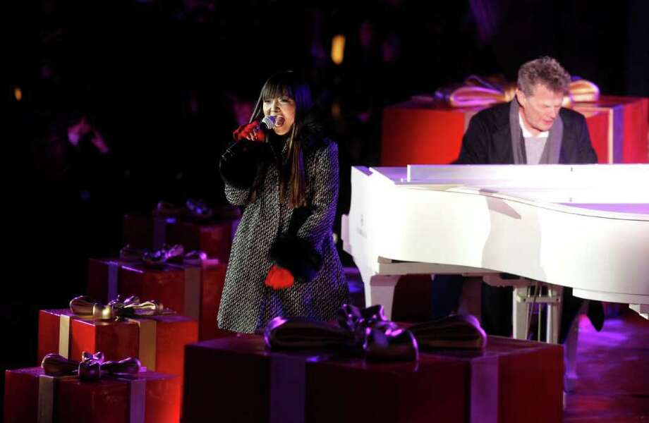 Singer Charice performs during the 78th annual Rockefeller Center Christmas tree lighting ceremony Tuesday, Nov. 30, 2010, in New York. (AP Photo/Jason DeCrow) Photo: Jason DeCrow