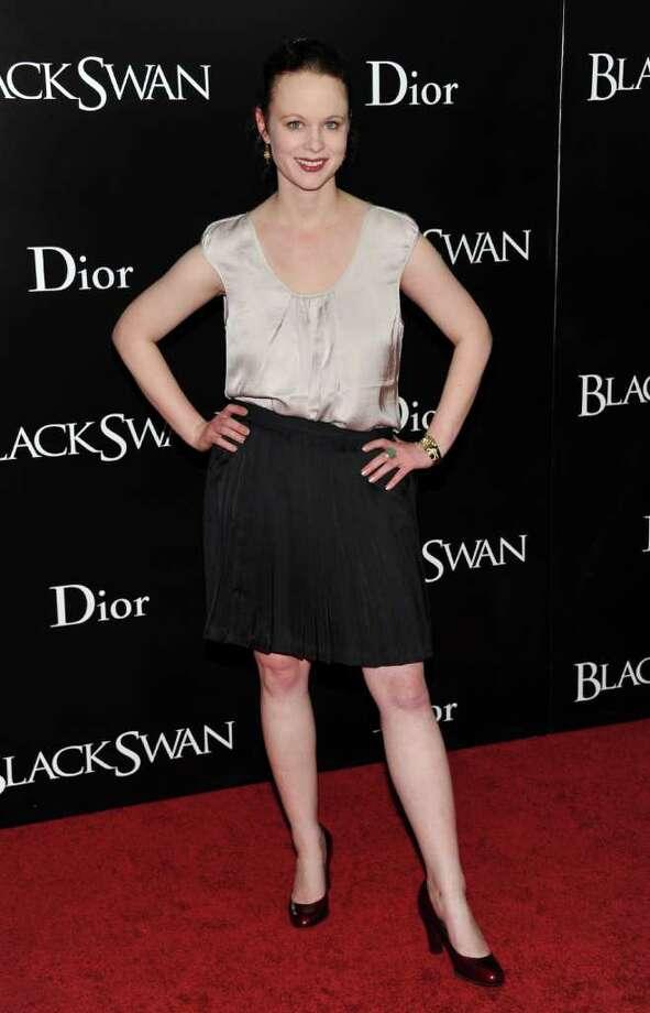 Actress Thora Birch attends the premiere of 'Black Swan' at the Ziegfeld Theatre on Tuesday, Nov. 30, 2010 in New York. (AP Photo/Evan Agostini) Photo: Evan Agostini