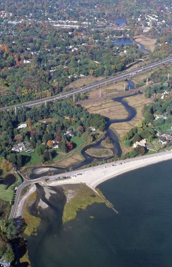 An aerial photo of Sasco Brook. Photo: Contributed Photo / Westport News