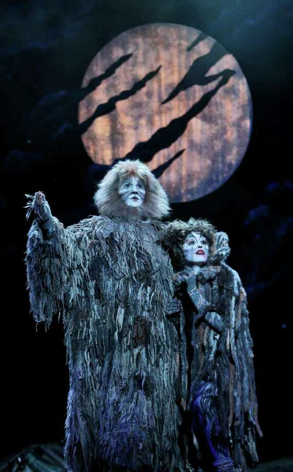 "Jeremy Brauner stars as Old Deuteronomy and Kathryn Holtkamp stars as Grizabella in ""Cats"" at the Palace Theatre Dec. 4 and 5. Photo: Contributed Photo / Connecticut Post Contributed"