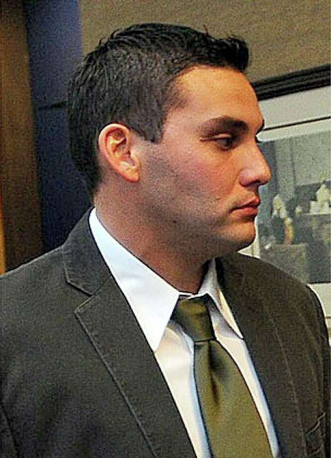James Cody Guedry is the second Beaumont police officer to stand trial for official oppression against Derrick Newman. Guedry is said to have used a Taser on Newman two times during the videotaped incident that occurred Aug. 24, 2007. Photo: Guiseppe Barranco / Beaumont