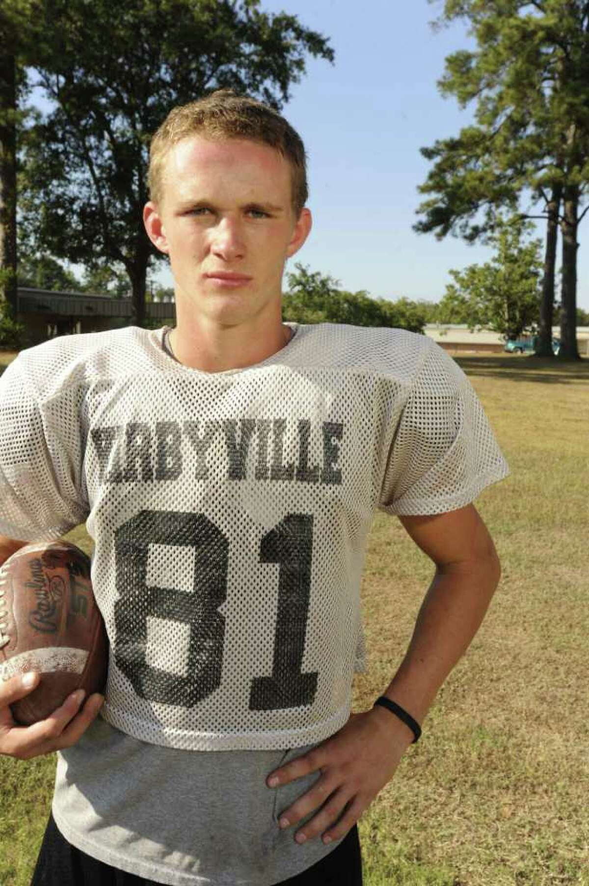 Kirbyville wide receiver Caleb Cucancic was named district MVP. Valentino Mauricio/The Enterprise