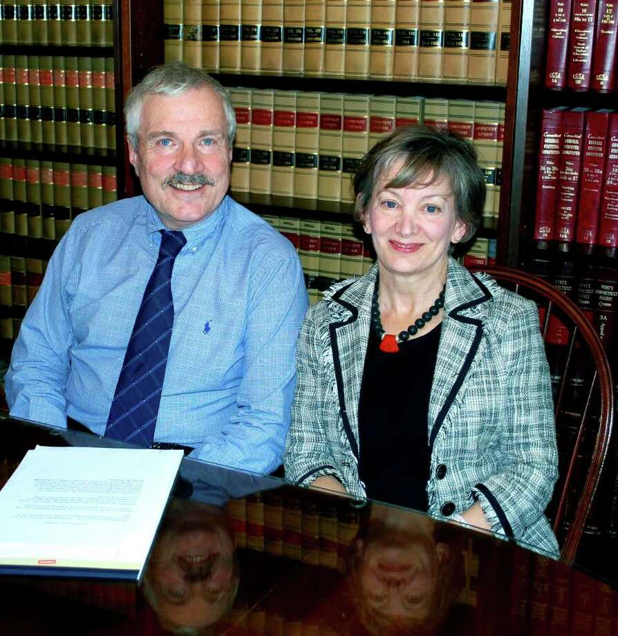 SPECTRUM/At Candlewood Mediation Center, the team of attorney Katherine Webster-O'Keefe and licensed clinical psychologist Tom Condon offer clients  a way to jointly work together on their divorce through the process of co-mediation. Offices are located in New Milford and Brookfield. For Greater New Milford Chamber of Commerce Business Quarterly for December 2010. Photo: Deborah Rose / The News-Times