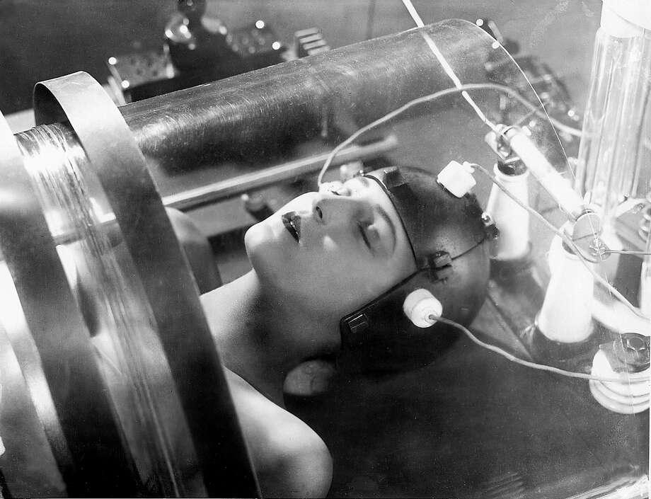 Maria (Brigitte Helm) in the silent film 'Metropolis.'