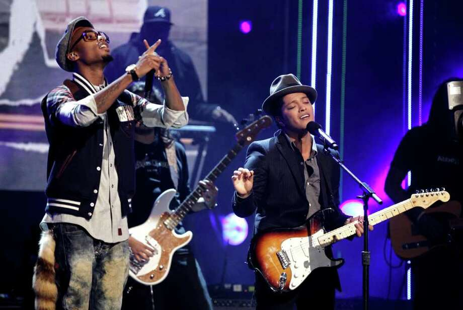 "Record of the Year: ""Nothin' on You,"" B.o.B. (left) featuring Bruno Mars. Matt Sayles/The Associated Press Photo: Matt Sayles, STF / AP"
