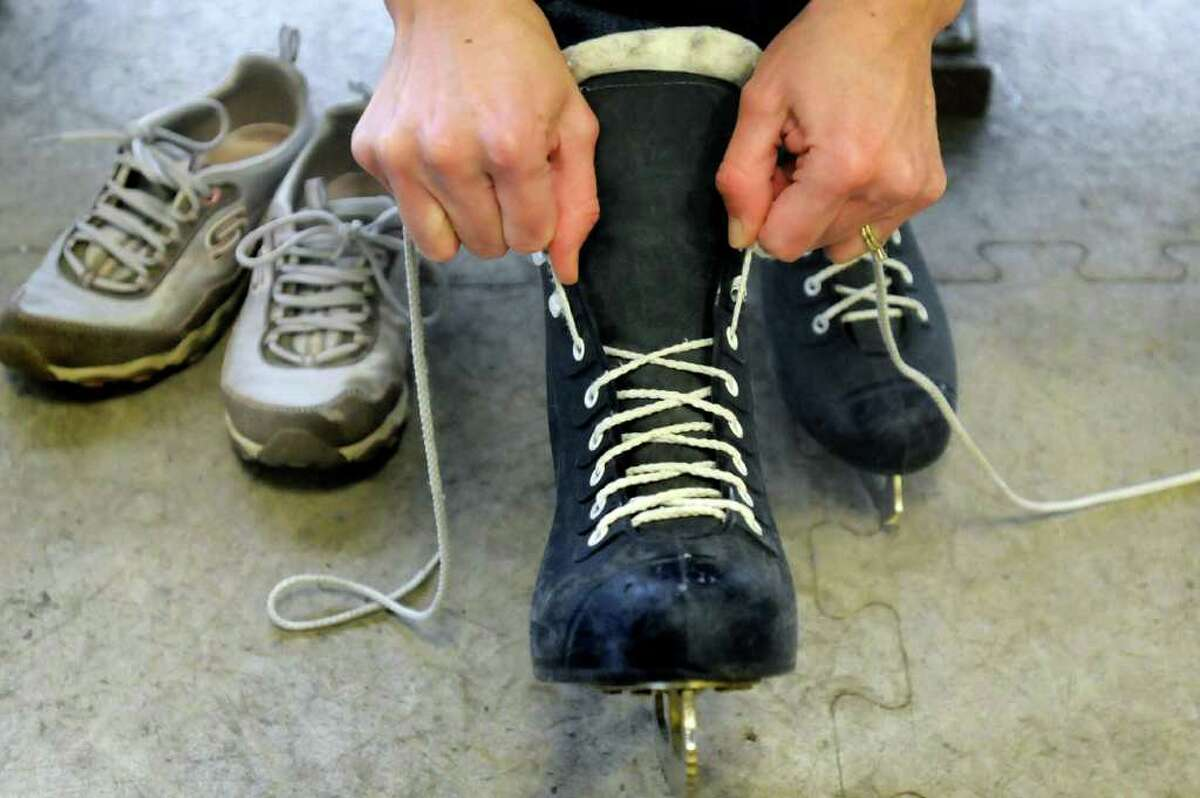 Trade your sneakers for ice skates. Most indoor rinks have open skating times during the day.