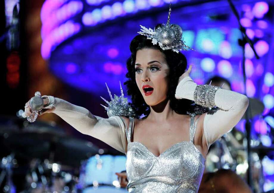 Singer Katy Perry performs during the Grammy Nominations Concert in Los Angeles on Tuesday, Nov. 30, 2010.  (AP Photo/Matt Sayles) Photo: Matt Sayles