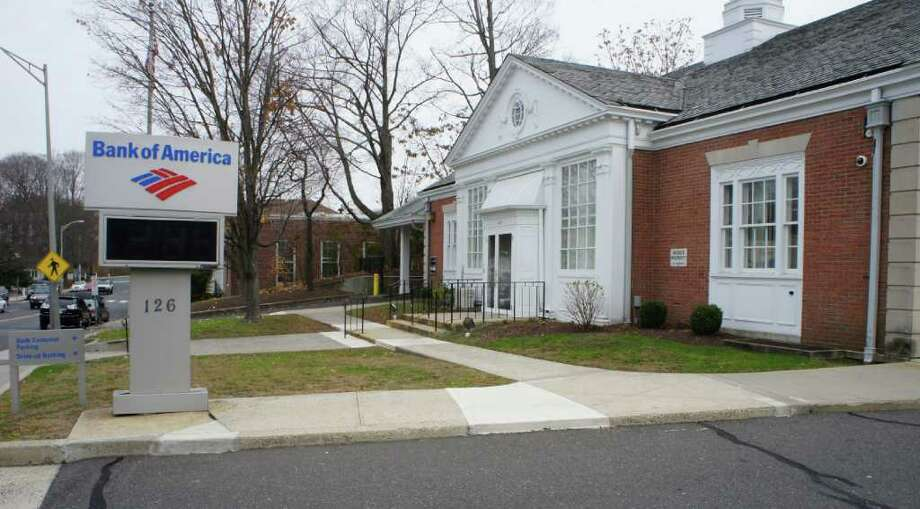 Bank of America has a branch in downtown Westport at 126 Post Road East. Photo: Paul Schott / Westport News