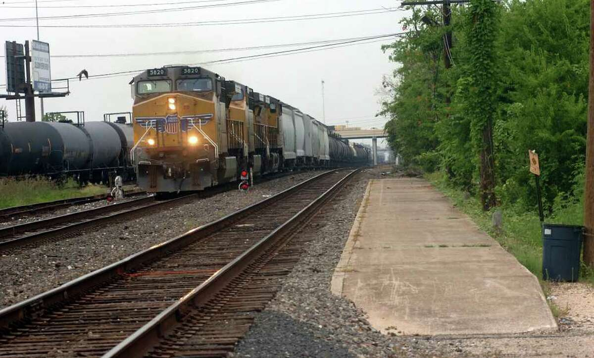 A Union Pacific train approaches the current Amtrak stop near 11th Street in Beaumont Beginning Dec. 15, Amtrak will lift a decade-old ban on carrying firearms in checked baggage on many of the agencyís trains. Enterprise file photo