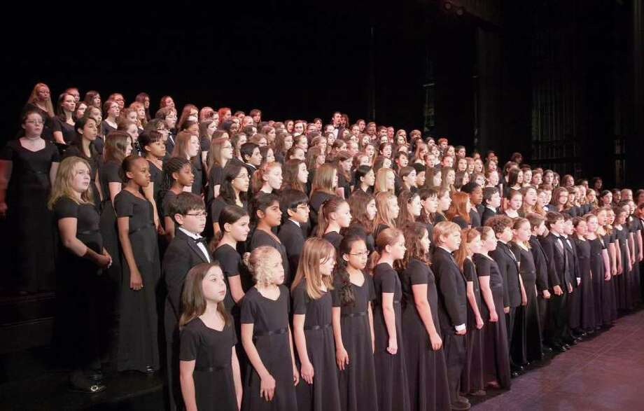 "The Fairfield County Children's Choir will kick off its 16th season with a holiday concert at the Klein Memorial Auditorium on Sunday, Dec. 12th. The performance, ""Winter Changes,"" will feature guest composer David Brunner, who will conduct the choir on his piece ""A Song to End All War."" Photo: Contributed Photo / Connecticut Post Contributed"