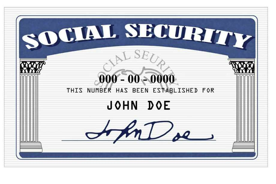 Mock up of a Social Security Card done in photoshop / 6167252