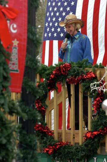 Sour Lake resident Ann Carpenter announces activities during the Old Timer's Day and Christmas On Th