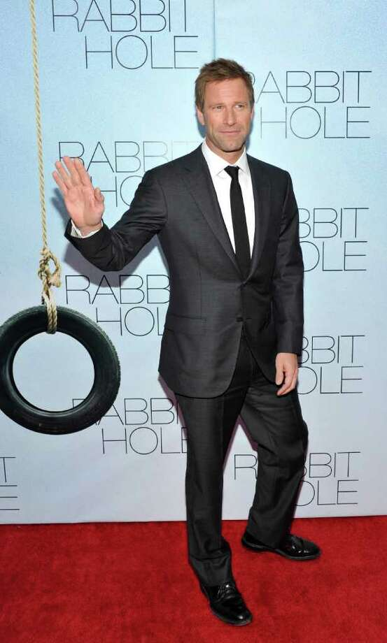 Actor Aaron Eckhart attends the premiere of 'Rabbit Hole' at the Paris Theatre on Thursday, Dec. 2, 2010 in New York. (AP Photo/Evan Agostini) Photo: Evan Agostini