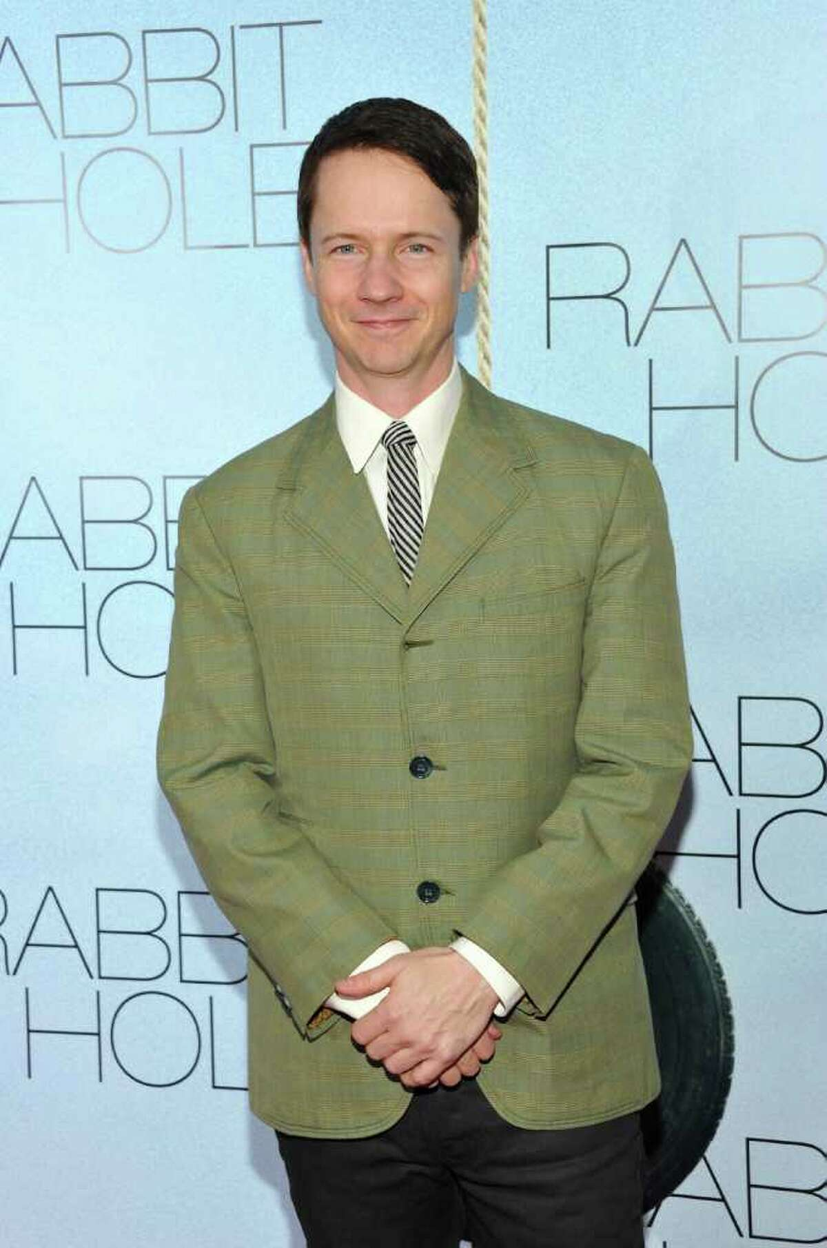 Director John Cameron Mitchell attends the premiere of 'Rabbit Hole' at the Paris Theatre on Thursday, Dec. 2, 2010 in New York. (AP Photo/Evan Agostini)