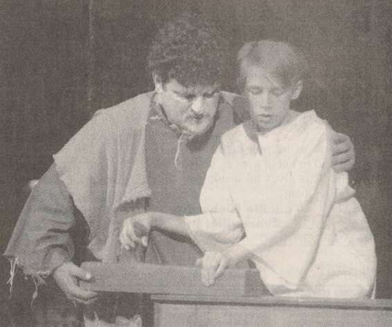 """Shawn Skinner as Joseph and Clete Philyaw, 11, as the boy Jesus perform at Calvary Baptist Church in 'Son of God, Love's Pure Light.'"" File photo Dec. 13, 1997"