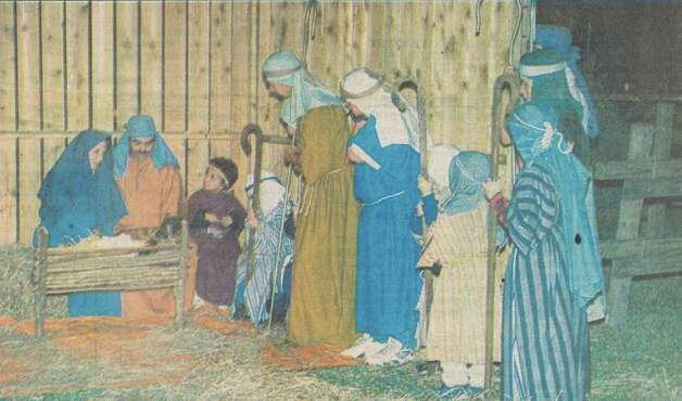 """The Redeemer Lutheran Church in Beaumont is among others sponsoring nativity scenes."" File photo Dec. 25, 1994"