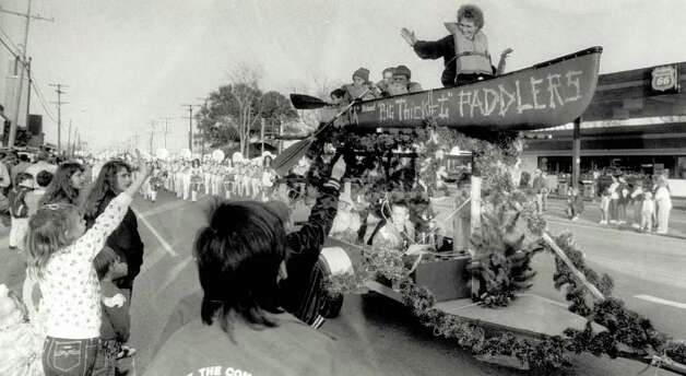 """One of the more unusual floats makes its way down Nederland Avenue during the Nederland Christmas Parade."" File photo Dec. 3, 1991"