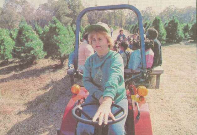 """Winifred Spell, above, takes Head Start pre-kindergarten students from Southerland School in Beaumont, on a tour of the Christmas tree farm north of Orange."" File photo Dec. 8, 1991"