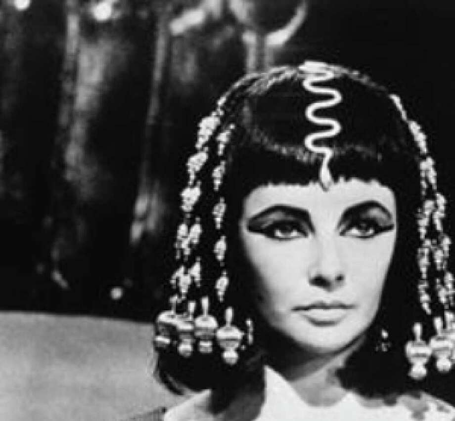 "Elizabeth Taylor had the title role in the overblown, costly 1963 flop ""Cleopatra."""