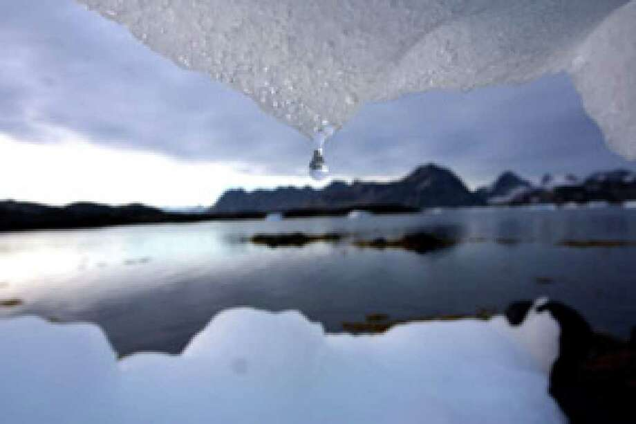 An iceberg melts in Kulusuk, Greenland near the arctic circle in 2005. While the Copenhagen climate talks have publicized climate change over the past two weeks, recent surveys suggest that Americans are hardly consumed by it.