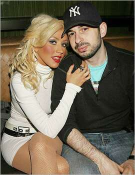Singer Christina Aguilera and husband Jordan Bratman attend a party in New York in 2007. Aguilera has filed for divorce.