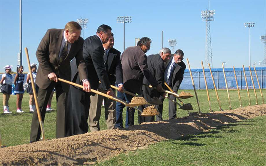 Officials from SSAISD, St. Philip's College, The University of Texas Health Science Center and Fort Sam Houston recently broke ground on the new Academy of Health Sciences last week.