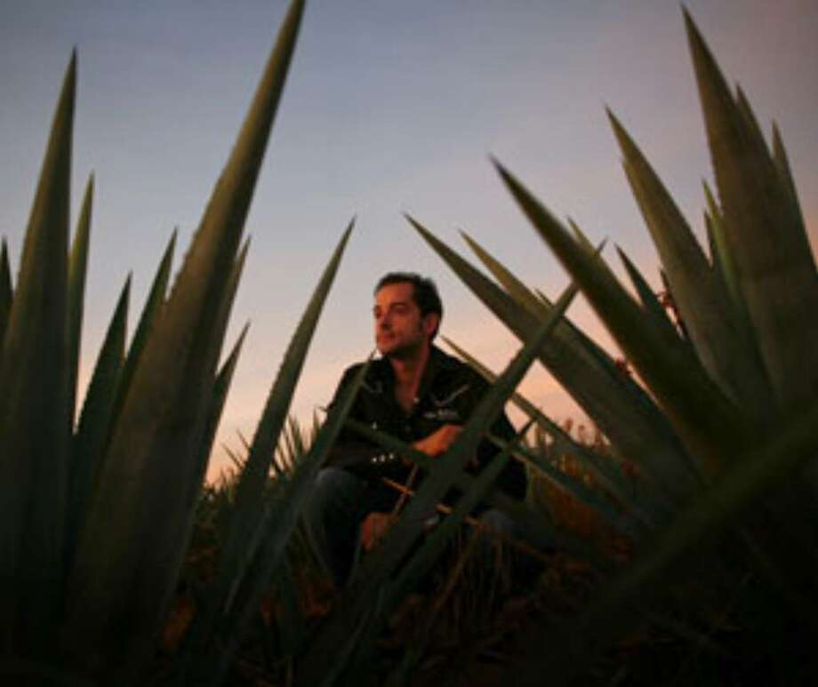 Iñaki Orozco kneels in his family agave field in Union de San Antonio, Mexico.
