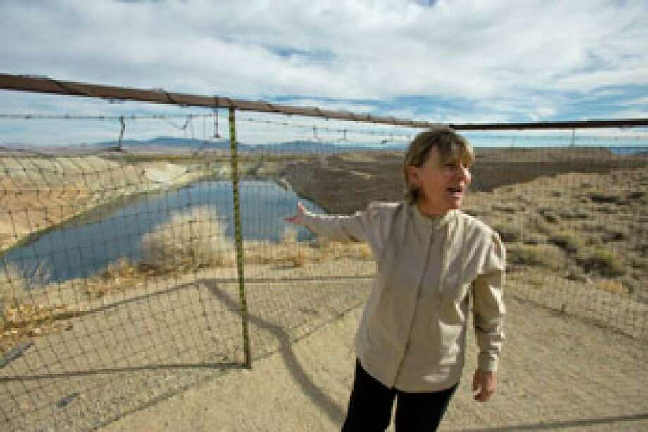 Peggy Pauley, who formed Yearington's first citizen advocacy group to address the water contamination from the former Anaconda copper mine site near Yearington, Nev., talks about attempts to make a recreation site out of the mine's pit.