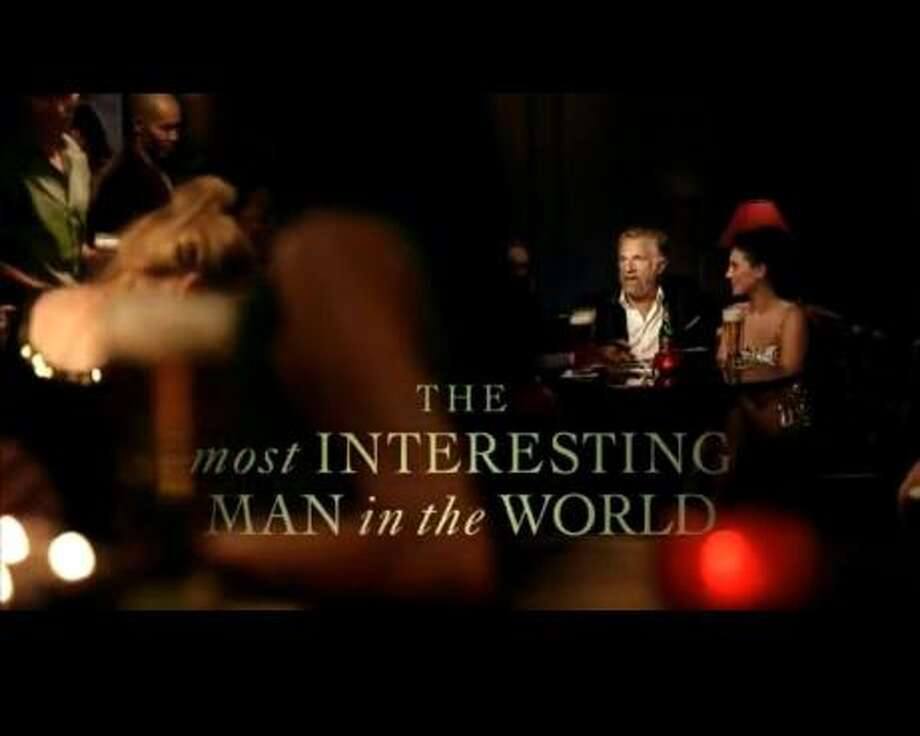 Screen grab from YouTube of Dos Equis ad for Most Interesting Man in the World. For Biz story on shorter commercials.