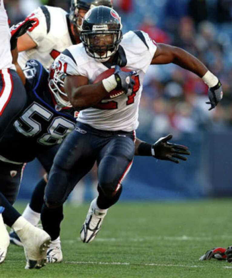 The Texans say they're sticking with their current trio of running backs, including Ryan Moats, who rushed for 126 yards and three touchdowns against Buffalo on Nov. 1.