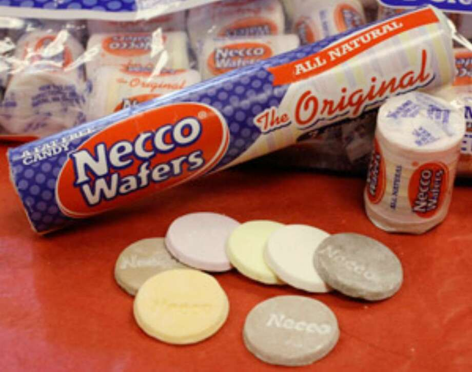 All natural Necco Wafers are displayed in Boston. The change by the Massachusetts candy company makes the wafers the largest mass-produced candy line in the U.S. to shed artificial flavoring and colors.
