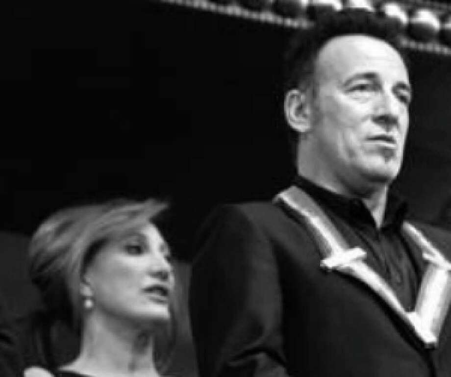 Bruce Springsteen and wife Patti Scialfa  attend the Kennedy Center Honors gala in Washington after he was presented with a medal.
