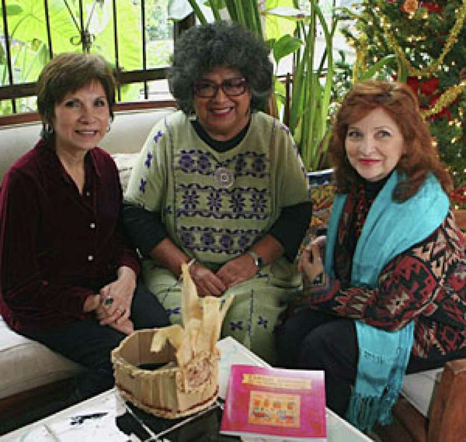 Thelma Muraida (from left), Ellen Riojas Clark and Carmen Tafolla worked together to put create the book 'Tamales, Comadres and the Meaning of Civilization.'