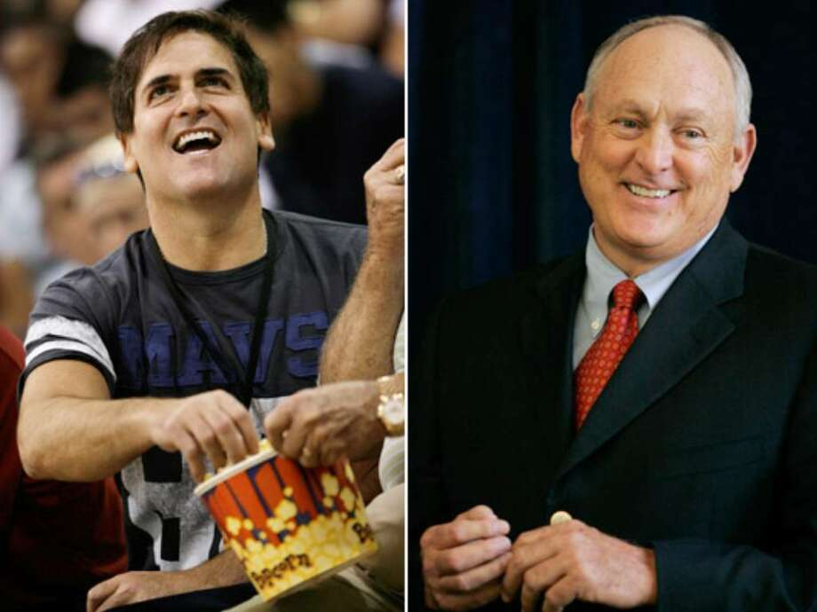LEFT: Mavericks owner Mark Cuban is making a bid for the Rangers. RIGHT: Nolan Ryan's group has MLB's support in trying to buy the Rangers.