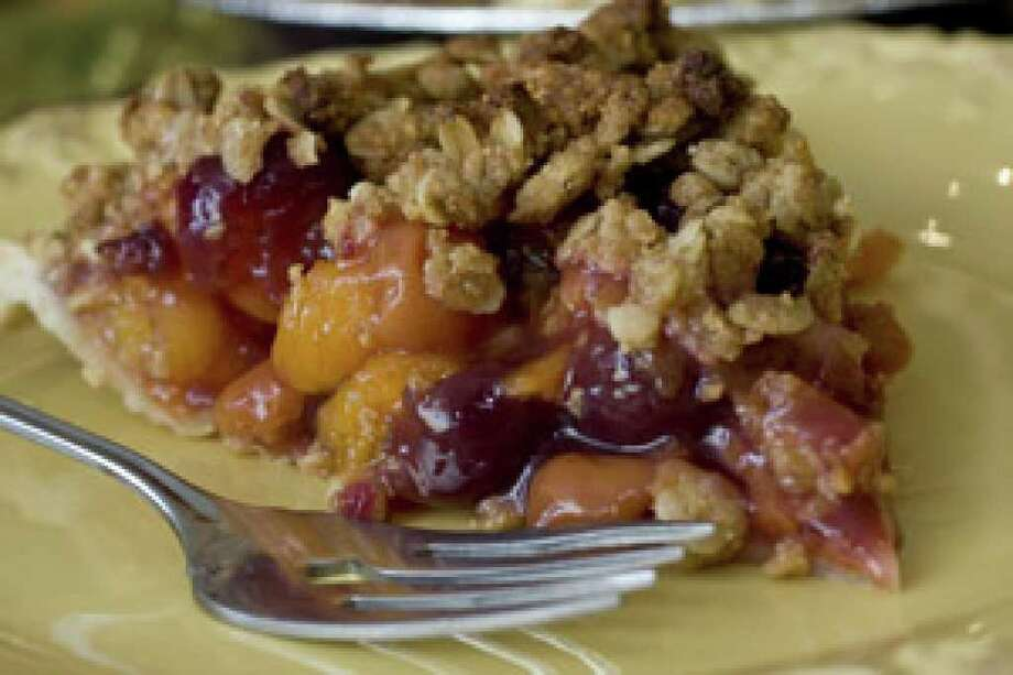 Cherry-apricot Crumb Pie
