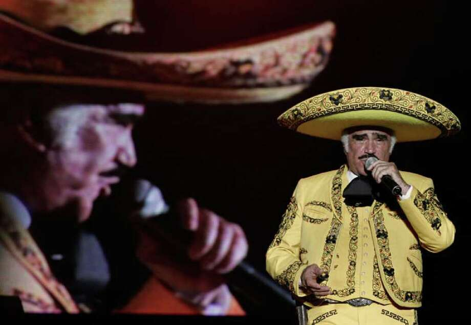 Vicente Fernandez performs in Cali,  Colombia back in 2009.