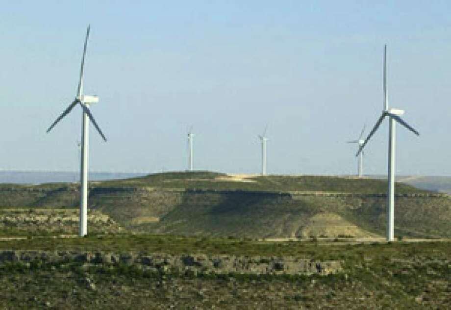 In windy West Texas, renewable power, like that from the Desert Sky Wind Farm, sometimes is given away for free because the excess cannot be stored.