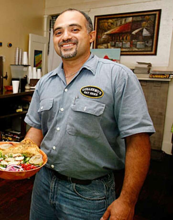 Guillermo Garza moved Guillermo's, his sandwich and salad shop, to a new location near N. St. Mary's Street and McCullough Avenue about four months ago and has seen continued success.