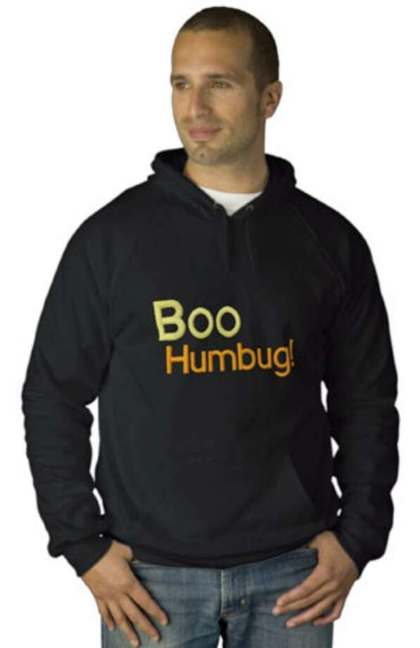 "This ""Boo Humbug"" sweatshirt is part of Zazzle's anti-Halloween line of t-shirts and shirts."