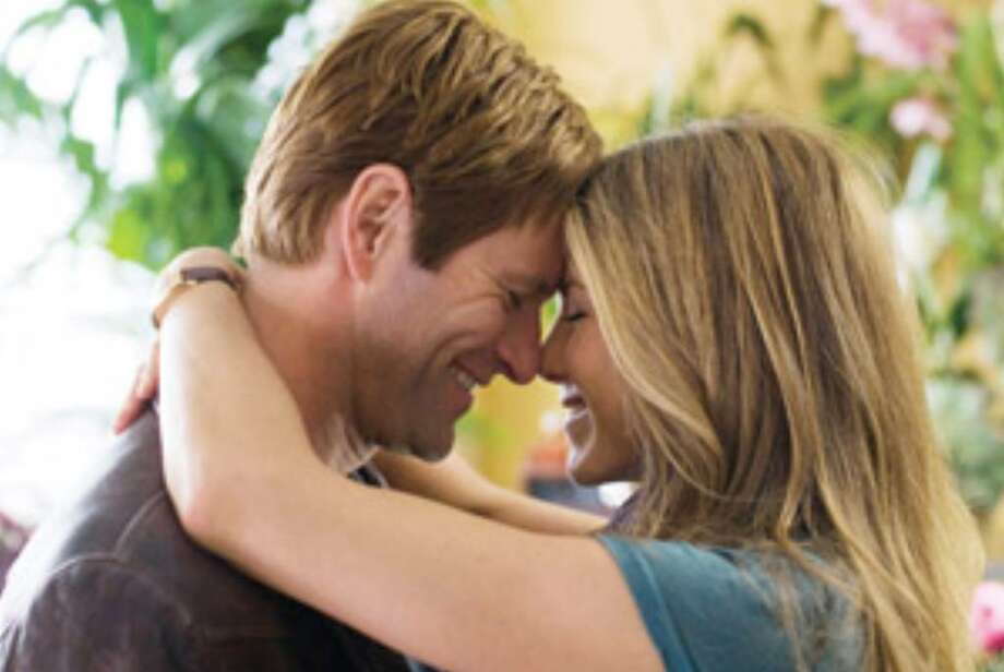 "This could be the only happy moment in ""Love Happens,"" a dreary, morose romance starring Aaron Eckhart and Jennifer Aniston."