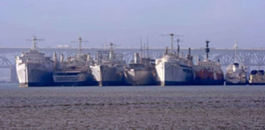 The Suisun Bay Reserve Fleet of old, rotting warships are shedding toxic paint into San Francisco Bay area waters.