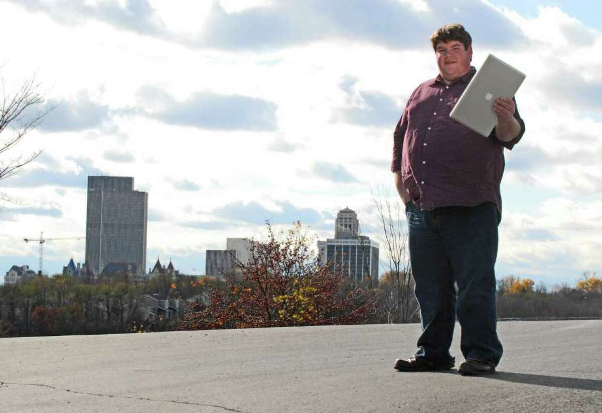 Matt Wade, Wikipedia administrator, and author of massive new article on history of Albany is pictured in Albany Friday November 19, 2010. (Will Waldron / Times Union)